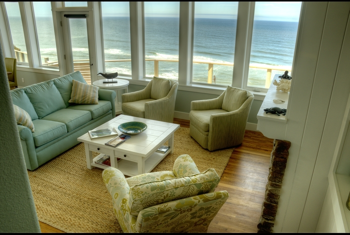 Living Room with stunning ocean view