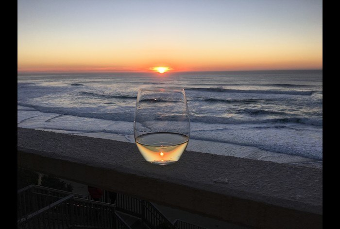 Sunset & Wine on the deck